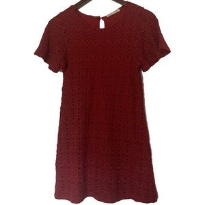 Zara Girls Soft Collection Dark Red Lace
